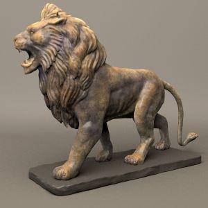 Decoración de jardín de gran tamaño de la vida de Mármol Piedra escultura estatua de León