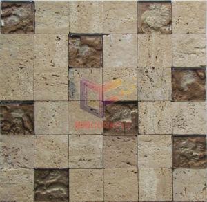 Natürliche Beige Travertin Mix Kristallmosaik (CFS1061)
