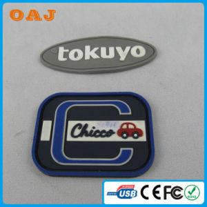 Custom Cheap Clothing PVC Rubber Badge Label