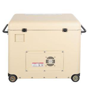 Gruppo elettrogeno diesel silenzioso di colore bianco (BDE6700TN)