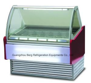 Congelatore della visualizzazione per il gelato con l'alta qualità