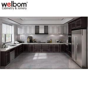 Welbom modularer hoher Glanz-purpurroter Küche-Entwurf
