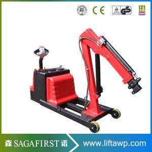 Pliage mobile électrique Compteur plancher équilibrée grue hydraulique