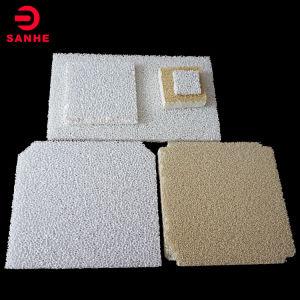 Forme carrée de l'alumine poreux Honeycomb mousse filtre céramique pour la coulée