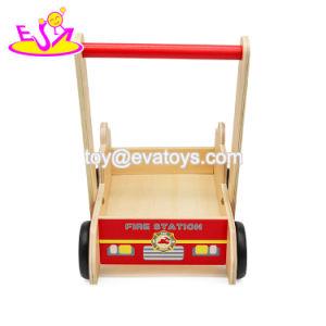 Commerce de gros bon marché de jouets en bois éducatifs bébé marcher W16e078