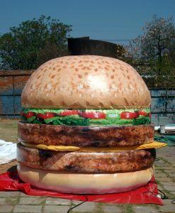 2019 het Nieuwe Reuze Opblaasbare Product van de Reclame van de Hamburger Model