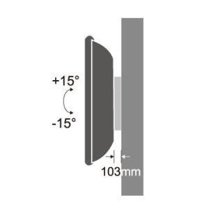 Incline o suporte de parede deslizante de 22-37 Plano
