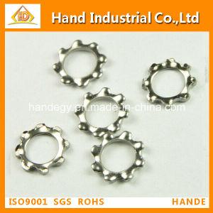 La norme DIN6797 crantée de la rondelle de blocage en acier inoxydable