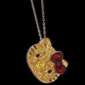 Or la mode en plastique acrylique Hello Kitty Necklace
