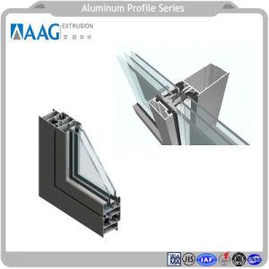 Parete divisoria di vetro del doppio di alluminio di profilo senza blocco per grafici