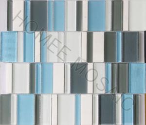 Tuile de bande de mosaïque de pierre de mélange de verre cristal de Backsplash de cuisine en vente chaude