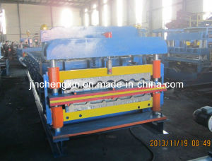 Roulis glacé de panneau de toit formant la machine de production de tuiles de toiture de /Glazed de machine