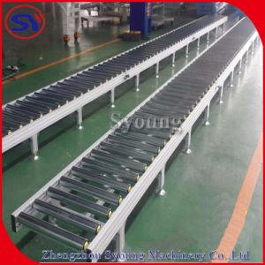 La gravedad de acero inoxidable motorizado el sistema transportador de rodillos de transporte de palets de cartón