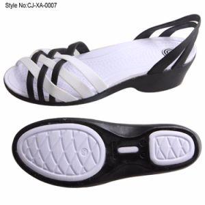 Usine de tous les lots de stock claire Cheap Jelly Chaussures femmes décontractées Lady sandale