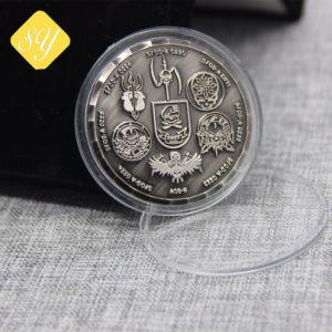 Comercio al por mayor la fundición en 3D nuevo diseño de recuerdos antiguos Coin