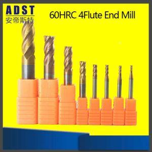 固体炭化物平らなEndmillsに塗る6つのフルートTialn
