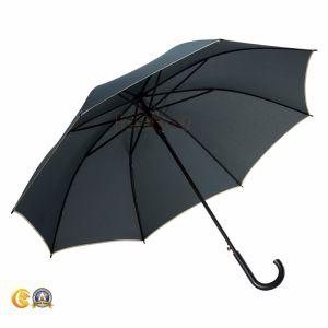 ステンレス鋼シャフトが付いている純粋なカラー雨まっすぐな傘