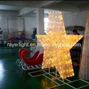 LED de exterior decoración estrellas Luz de Navidad para el árbol de Navidad Topper