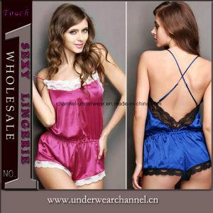 Comercio al por mayor ropa interior de encaje de peluche de una pieza de lencería sexy (TFQQ0979)