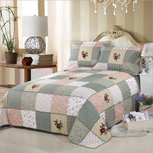 Домашний текстиль с любой ткани постельные принадлежности набор настраиваемых Prewashed прочного удобные кровати стеганая 1-х покрывалами Coverlet и постельное белье