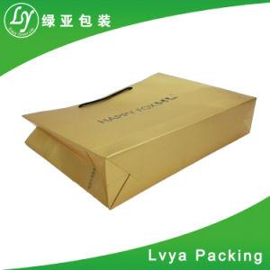 Reciclado de lujo el logotipo de impresión personalizado Pack Compras bolsa de papel