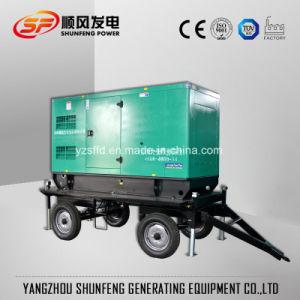 Generatore diesel silenzioso di energia elettrica 100kVA del rimorchio con Cummins Engine