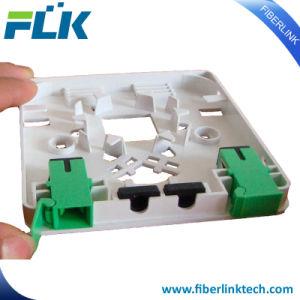 FTTH 2 Núcleos grasa de la placa de fibra óptica de salida de la caja final