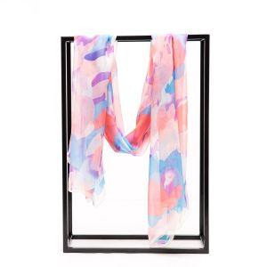 A Impressão Digital Cerificated ISO Senhora lenço de seda