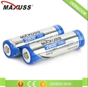 1.2 V 2800mAh AA Batterien Ni-MH-nachladbare Batterie-Satz