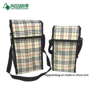 Personalizado de estilo simple y gran capacidad de almacenamiento llevar bolso del refrigerador
