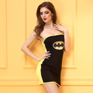 Sexy noir jaune femelle Sexy teddy uniforme Bat Style Lingerie Sexy Hot lingerie sexy nuisette