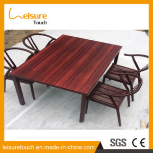 전천후 아이들 테이블 및 의자는 현대 옥외 정원 안뜰 알루미늄 나무로 되는 가구를 놓았다