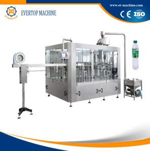 L'eau minérale le plafonnement de la machine de remplissage de rinçage
