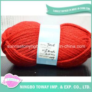 Tricotage à la Main du Fil à Tricoter Acrylique Rouge de Lavage Superbe