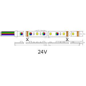 UL Ce 96 LED/M 4000K Luz LED SMD 5060+2835 RGB+W Lámina Flexible de luz