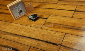 Carbonisé Strand le sol en bambou tissées Français Couleur de purge