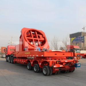 A Titan Escavadeira Telescópico Extensível Lowboy baixa queda de Caminhão/pá carregadeira camião de plataforma semi-reboques para transporte de moinho de Transporte do Adaptador da Lâmina da turbina