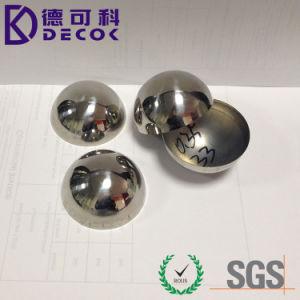 304 de alta calidad de acero inoxidable esfera hueca de la mitad de 60mm 63mm