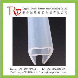 Extrusión de cristal de la puerta U tipo Tira de sellado de silicona