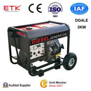gruppo elettrogeno diesel di inizio elettrico chiave manuale 3kw