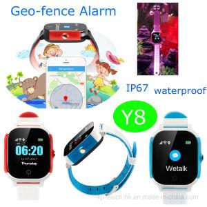 Ce/RoHS/FCCのIPSスクリーンY8が付いている公認の赤ん坊GPSの追跡者の腕時計