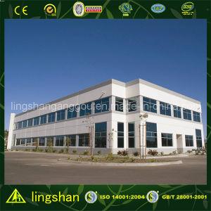 Prefab офисное здание стальной структуры панели сандвича (LS-SS-016)