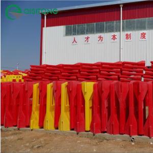 63'' Rotomoldagem cheio de água alto muro de segurança - Amarelo