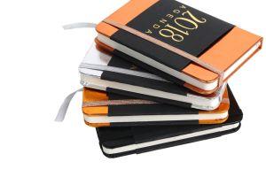 2018의 최신 판매 Metel 금 은 가죽 PU 두꺼운 표지의 책 노트북