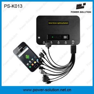 Proyecto de mini portátiles sistema de iluminación de la Energía Solar con 11V 4W panel solar y teléfono USB Cargador (PS-K013)