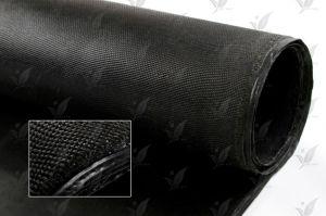 El color negro de Tela de vidrio recubierto de caucho de silicona