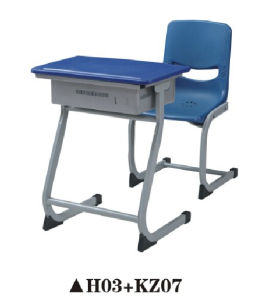 Einzelner Schule-Schreibtisch, Plastikkursteilnehmer-Stuhl-Kind-Möbel