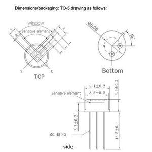 Grande sensore di movimento della finestra 3*4mm PIR per l'allarme di obbligazione (PIR200B)