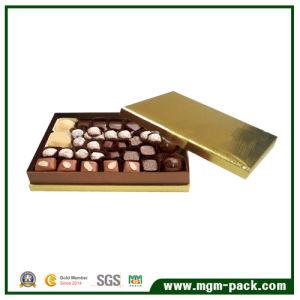 El lujo de oro de chocolate de papel caja de embalaje para regalo