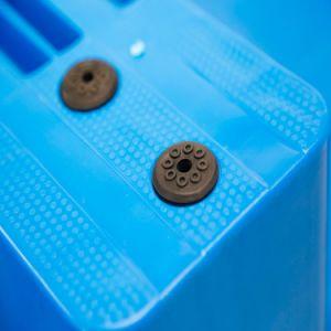Mini-Euro barato a capacidade de carga de paletes de plástico reforçado com o tabaco